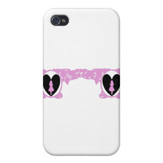 Love Alice Vintage Frame in Pale Pink iPhone 4 Cases
