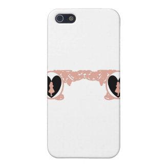 Love Alice Vintage Frame in Rose Beige Case For iPhone SE/5/5s