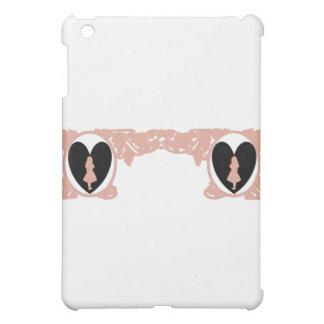 Love Alice Vintage Frame in Rose Beige Case For The iPad Mini