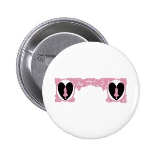 Love Alice Vintage Frame in Rose Pink Pinback Button