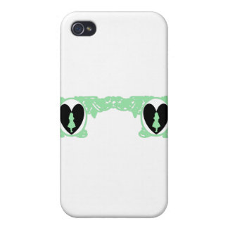Love Alice Vintage Frame in Sea Green iPhone 4 Covers