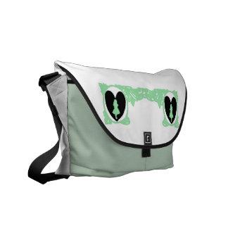 Love Alice Vintage Frame in Sea Green Messenger Bag