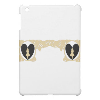 Love Alice Vintage Frame in Taupe Beige iPad Mini Cover