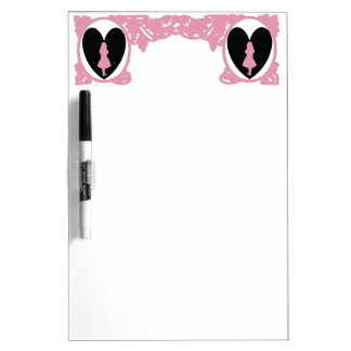 Love Alice Vintage Frame Pink Dry Erase Board