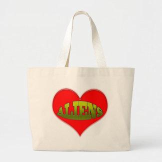 Love Aliens Heart Tote Bag