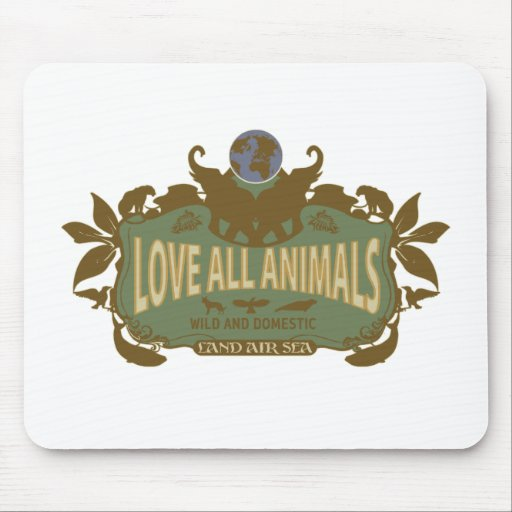 Love All Animals Mouse Pad