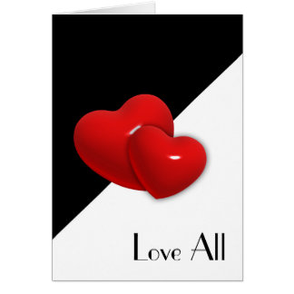 Love All Double Hearts Card