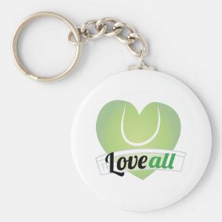 Love All Basic Round Button Keychain
