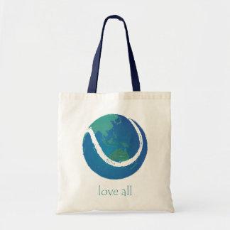 LOVE ALL tennis world design Canvas Bags