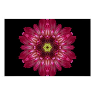 Love Allows Flower Mandala Poster