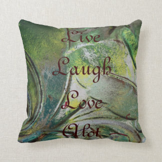 Love-Alot Green Art Pillow