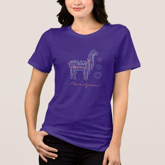 Love Alpacas Cute T-shirt