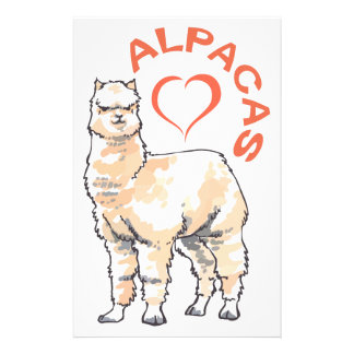 LOVE ALPACAS PERSONALIZED STATIONERY