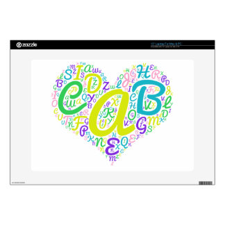 """love alphabet decal for 15"""" laptop"""