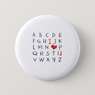 Love Alphabet Pinback Button