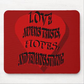 Love Always Heart Mousepad
