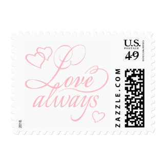 Love Always Hearts Typography | CHOOSE YOUR COLOR Stamp
