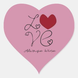 Love ALways Wins - Change Color Heart Sticker