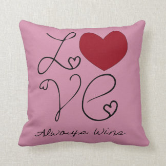 Love ALways Wins - Change Color Throw Pillow