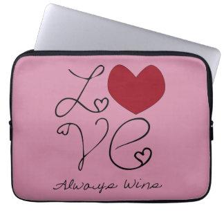 Love Always Wins - Choose Color Laptop Sleeve