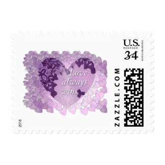 """Love always wins"" Stamps, a message of love Postage"