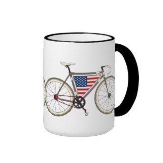 Love America Bike Ringer Coffee Mug
