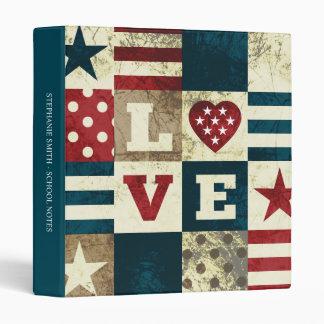 "Love America Patriotic 1"" Avery Binder"