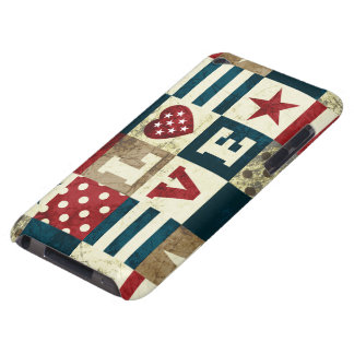 Love America Patriotic Barely There iPod Cover