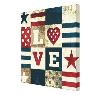 Love America Patriotic Canvas Print