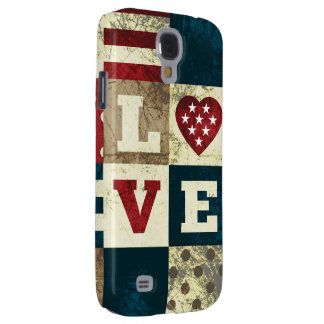 Love America Patriotic Galaxy S4 Cover