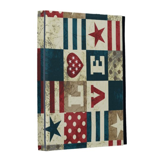 Love America Patriotic iPad Folio Cover