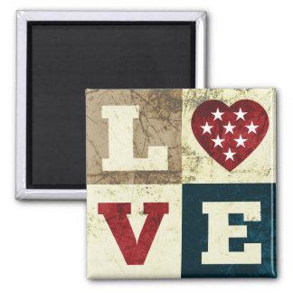 Love America Patriotic Magnet Magnet