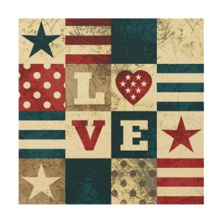 Love America Patriotic Wood Wall Art