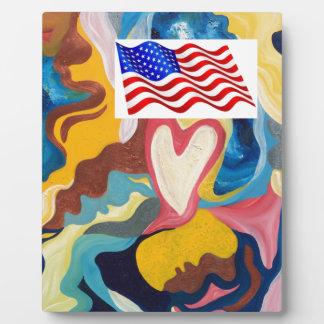Love American Flag Plaque