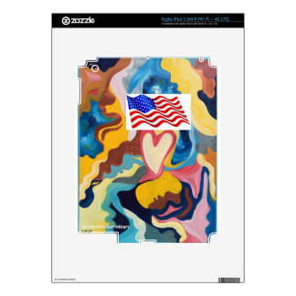 Love American Flag Skins For iPad 3