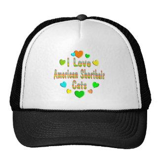 Love American Shorthair Cats Hats
