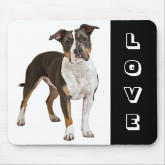 Love American Staffordshire Terrier  Dog Mousepad