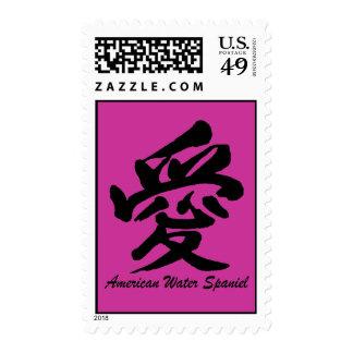 love american water spaniel stamp
