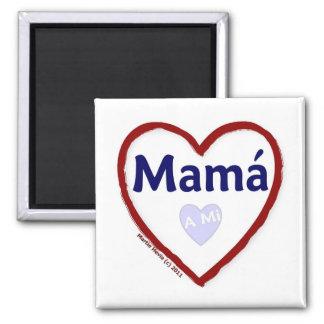 Love - Amo A Mi Mama 2 Inch Square Magnet