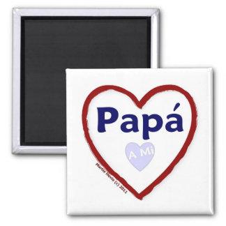 Love - Amo A Mi Papa 2 Inch Square Magnet