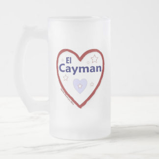Love - Amo El Cayman Frosted Glass Beer Mug