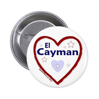 Love - Amo El Cayman Pinback Button