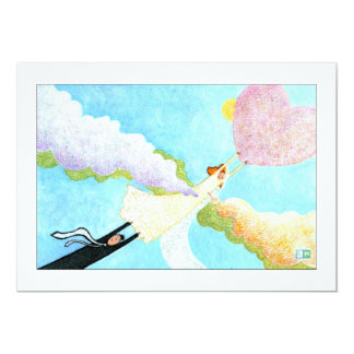 Love among clouds card
