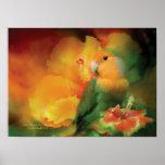 Love Among The Hibiscus Art Poster/Print