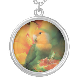 Love Among The Hibiscus Wearable Art Necklace