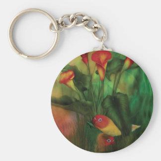 Love Among The Lilies Art Keychain