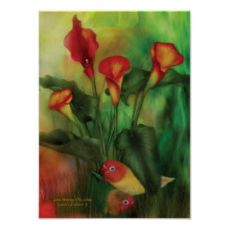 Love Among The Lilies Poster/Print Poster