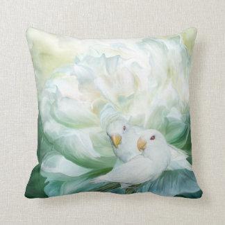 Love Among The Peonies Art Decorator Pillow
