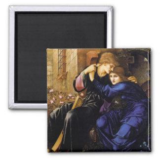 Love among the ruins Pre-Raphaelite Art Refrigerator Magnet
