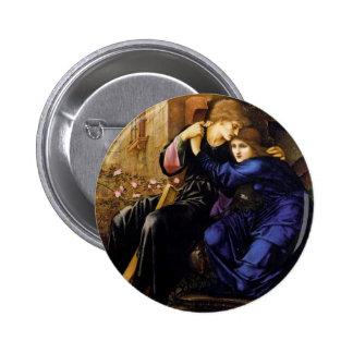 Love among the ruins Pre-Raphaelite Art Pinback Button